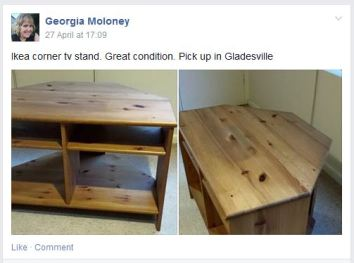 Ikea corner TV stand posted on the page recently.